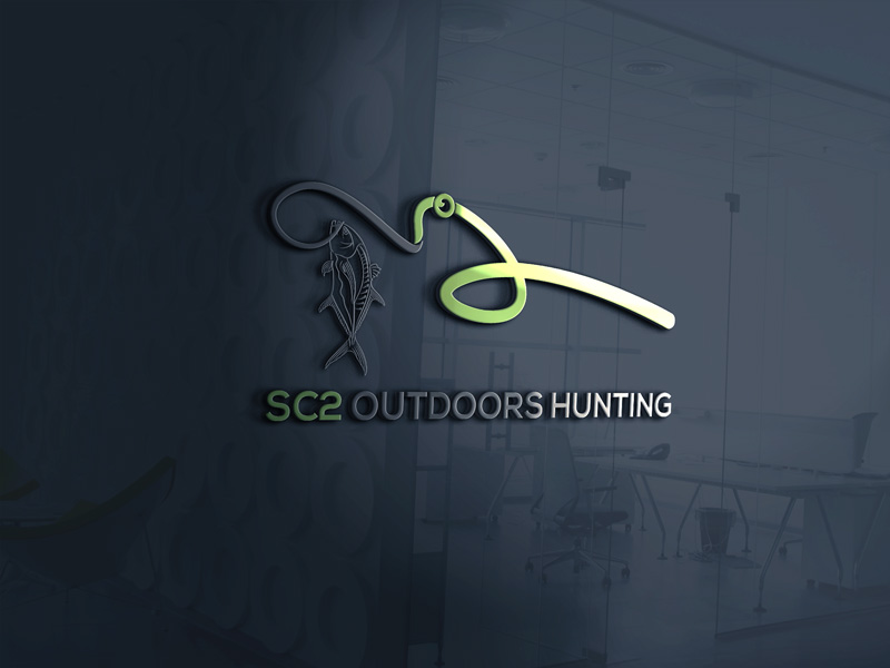Logo Design by Sinthiya Omar - Entry No. 99 in the Logo Design Contest Imaginative Logo Design for SC2 Outdoors Hunting / Fishing Logo.