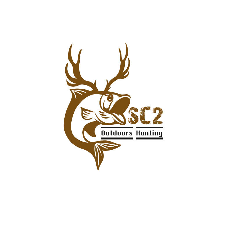 Logo Design by M h Rubel - Entry No. 108 in the Logo Design Contest Imaginative Logo Design for SC2 Outdoors Hunting / Fishing Logo.