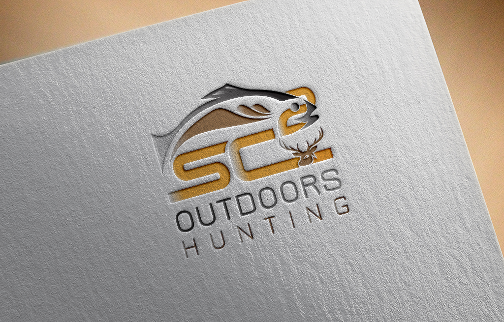 Logo Design by Kamal Hossain - Entry No. 152 in the Logo Design Contest Imaginative Logo Design for SC2 Outdoors Hunting / Fishing Logo.