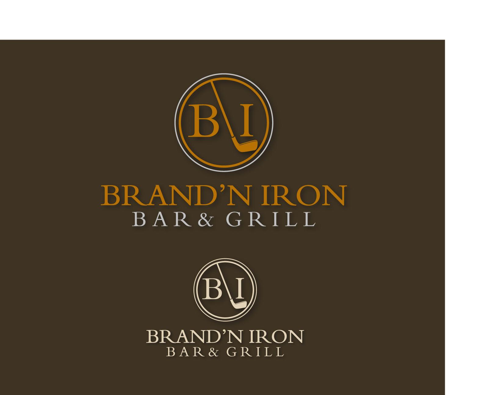Logo Design by Allan Esclamado - Entry No. 192 in the Logo Design Contest Captivating Logo Design for Brand'n Iron Bar & Grill.