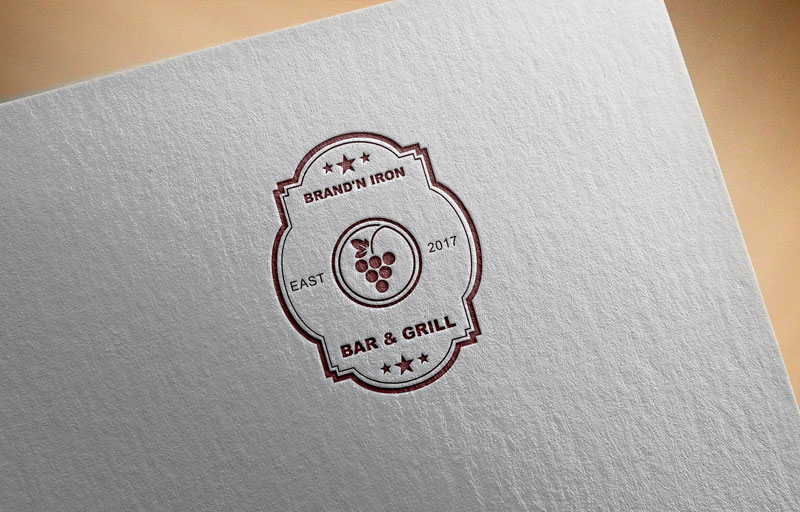 Logo Design by Private User - Entry No. 194 in the Logo Design Contest Captivating Logo Design for Brand'n Iron Bar & Grill.