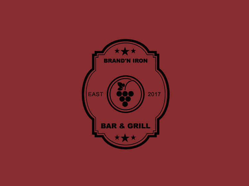 Logo Design by Private User - Entry No. 195 in the Logo Design Contest Captivating Logo Design for Brand'n Iron Bar & Grill.