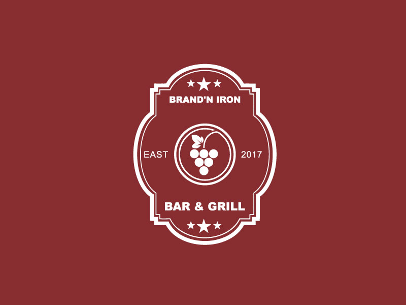 Logo Design by Private User - Entry No. 196 in the Logo Design Contest Captivating Logo Design for Brand'n Iron Bar & Grill.