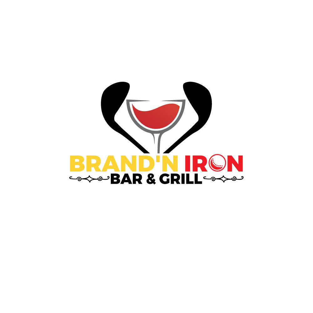 Logo Design by Easrat Jahan - Entry No. 197 in the Logo Design Contest Captivating Logo Design for Brand'n Iron Bar & Grill.