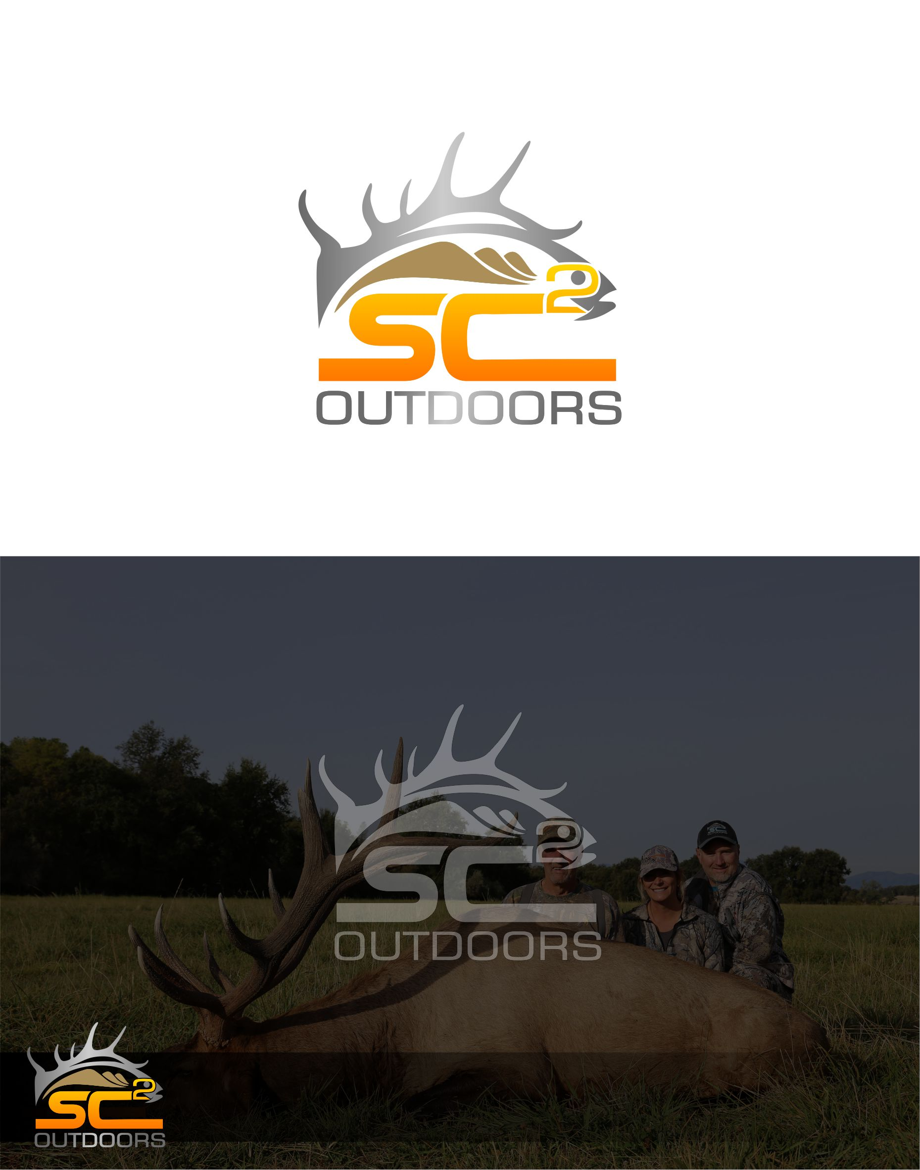 Logo Design by Raymond Garcia - Entry No. 192 in the Logo Design Contest Imaginative Logo Design for SC2 Outdoors Hunting / Fishing Logo.
