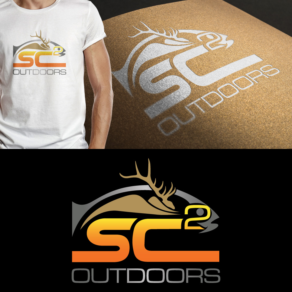 Logo Design by JerukKeprok - Entry No. 194 in the Logo Design Contest Imaginative Logo Design for SC2 Outdoors Hunting / Fishing Logo.