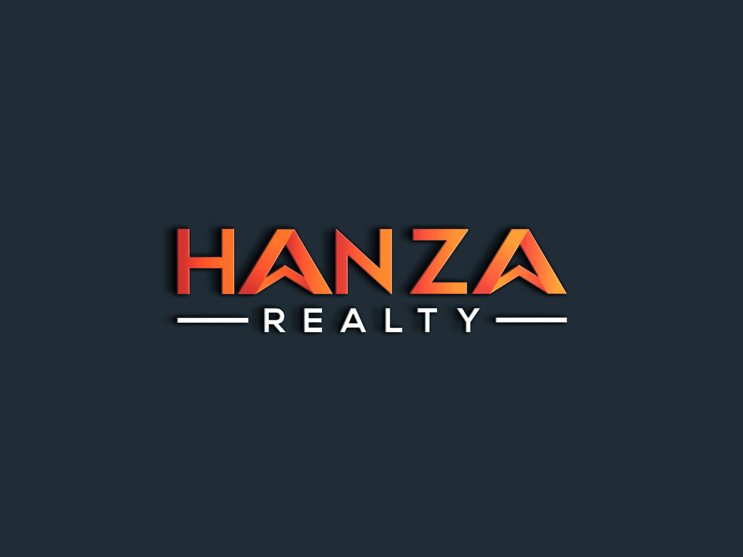 Logo Design by Md nayeem Khan - Entry No. 72 in the Logo Design Contest Logo Design for Hanza Realty.
