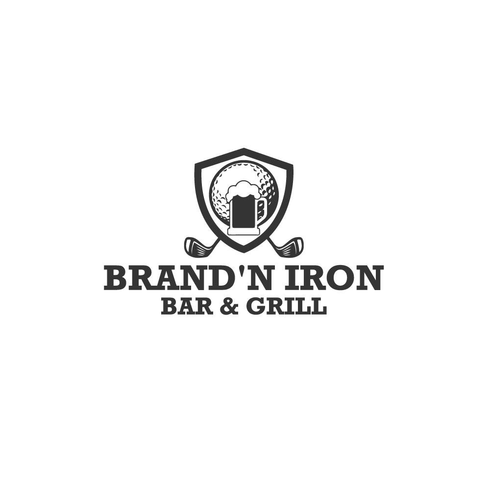 Logo Design by Easrat Jahan - Entry No. 200 in the Logo Design Contest Captivating Logo Design for Brand'n Iron Bar & Grill.