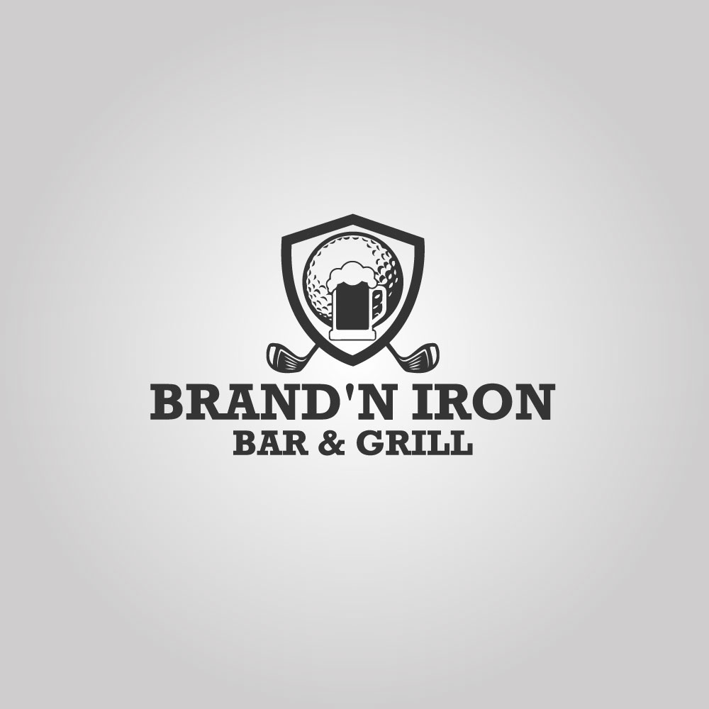 Logo Design by Easrat Jahan - Entry No. 201 in the Logo Design Contest Captivating Logo Design for Brand'n Iron Bar & Grill.