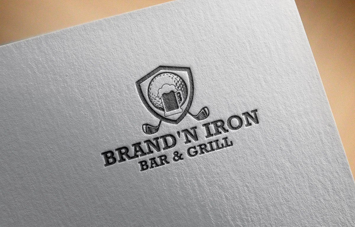 Logo Design by Easrat Jahan - Entry No. 202 in the Logo Design Contest Captivating Logo Design for Brand'n Iron Bar & Grill.