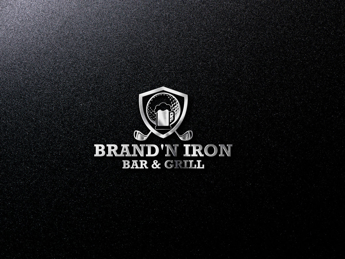 Logo Design by Easrat Jahan - Entry No. 204 in the Logo Design Contest Captivating Logo Design for Brand'n Iron Bar & Grill.
