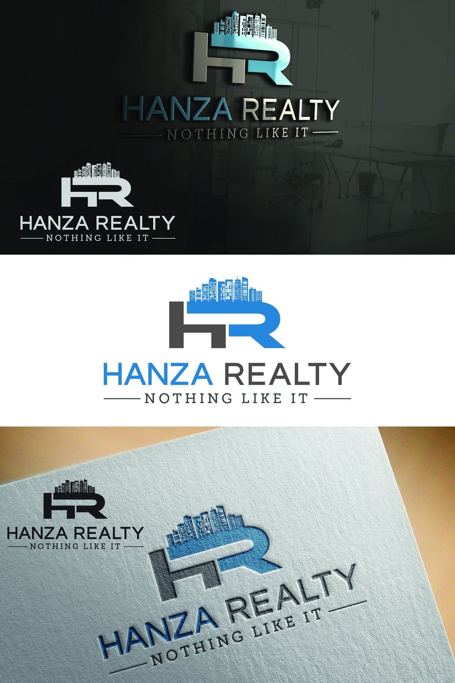 Logo Design by Umair ahmed Iqbal - Entry No. 145 in the Logo Design Contest Logo Design for Hanza Realty.