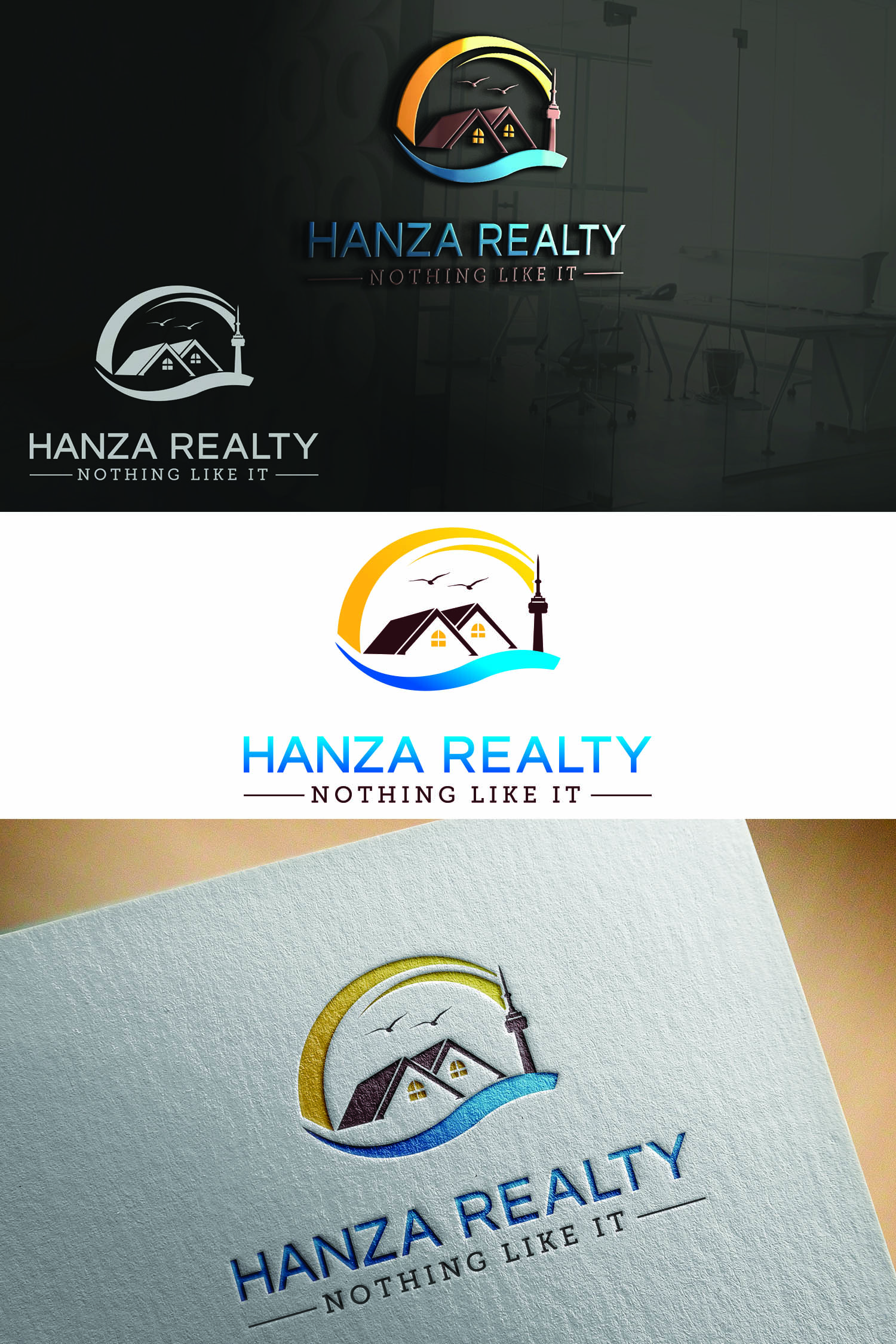 Logo Design by Umair ahmed Iqbal - Entry No. 146 in the Logo Design Contest Logo Design for Hanza Realty.