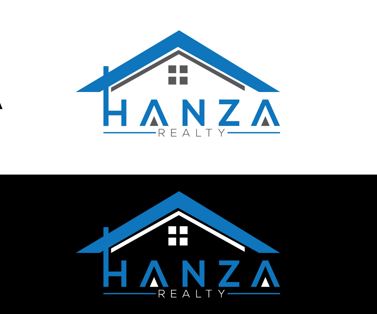 Logo Design by Ahmed Murad - Entry No. 256 in the Logo Design Contest Logo Design for Hanza Realty.