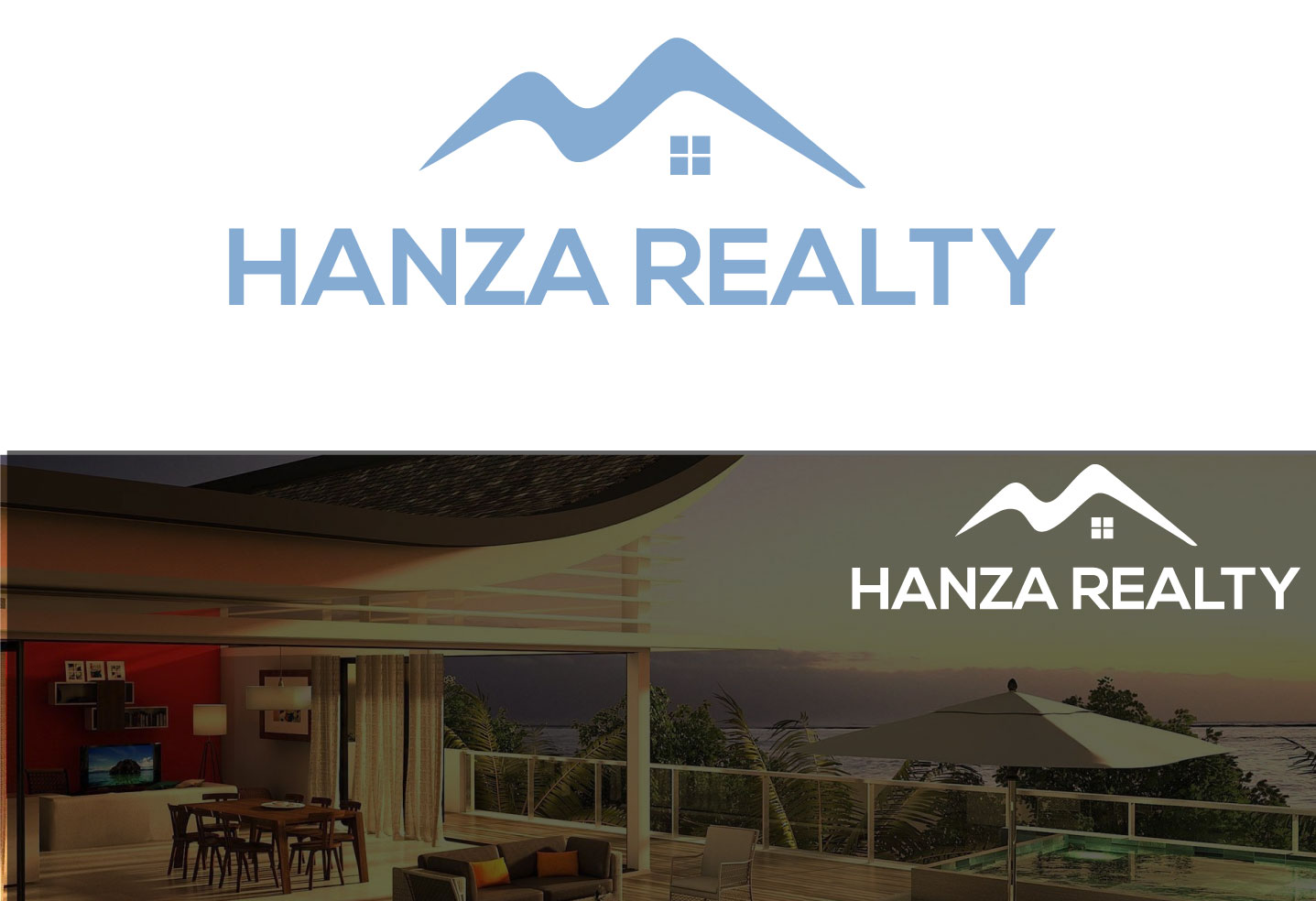 Logo Design by Kamrul Prodhan - Entry No. 290 in the Logo Design Contest Logo Design for Hanza Realty.