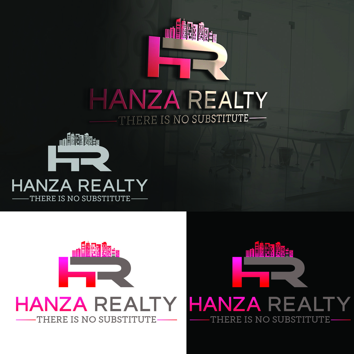 Logo Design by Umair ahmed Iqbal - Entry No. 315 in the Logo Design Contest Logo Design for Hanza Realty.