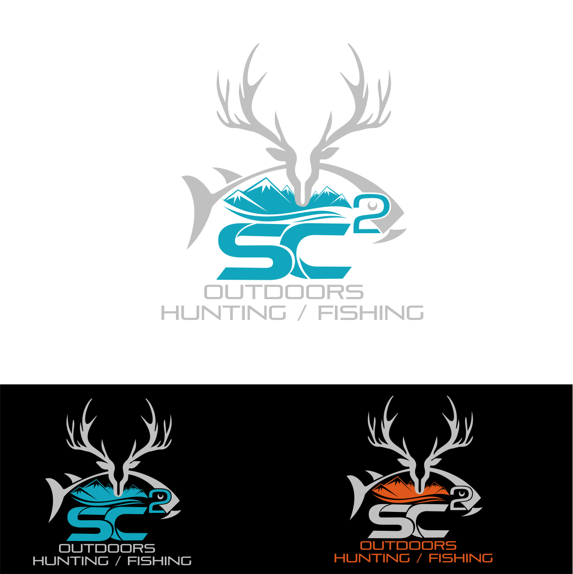 Logo Design by Private User - Entry No. 233 in the Logo Design Contest Imaginative Logo Design for SC2 Outdoors Hunting / Fishing Logo.