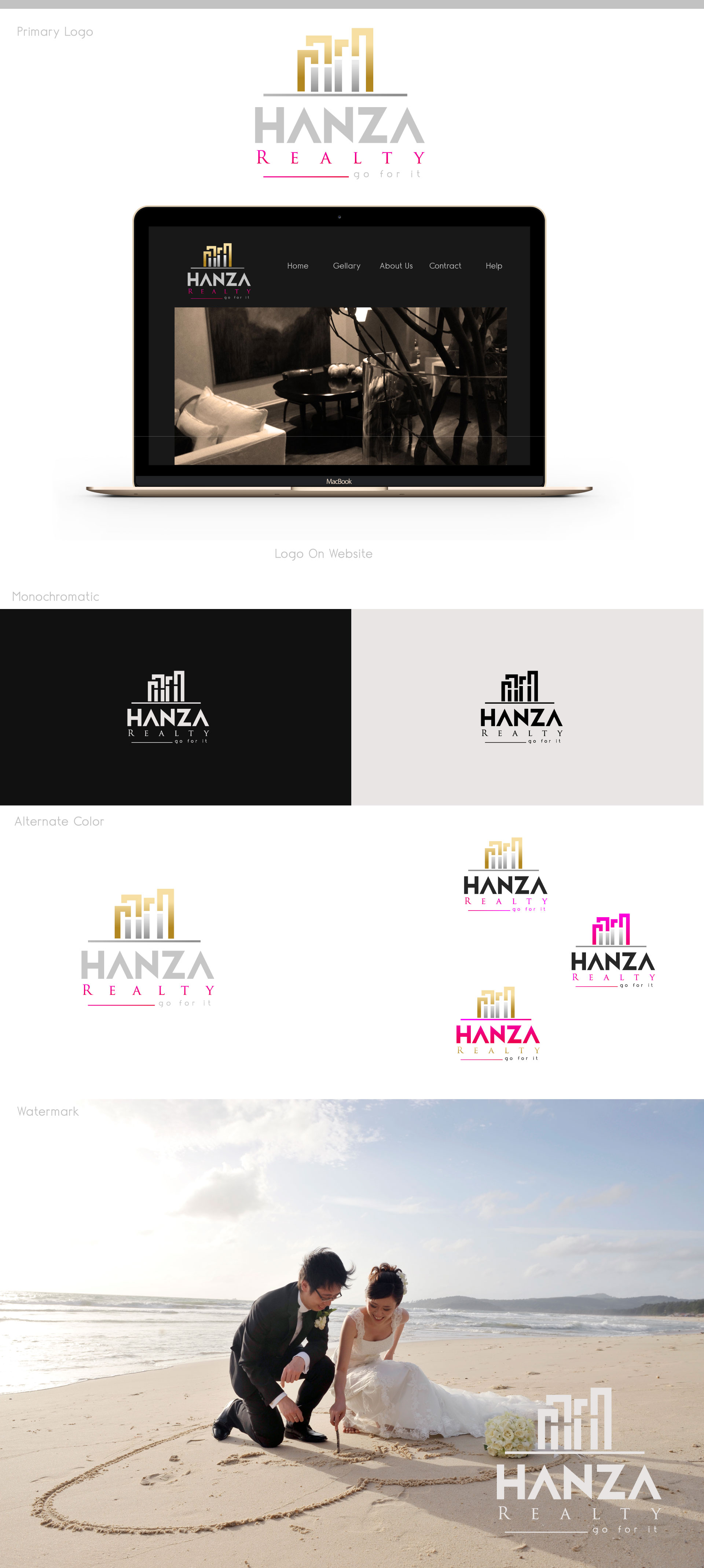 Logo Design by M h Rubel - Entry No. 327 in the Logo Design Contest Logo Design for Hanza Realty.
