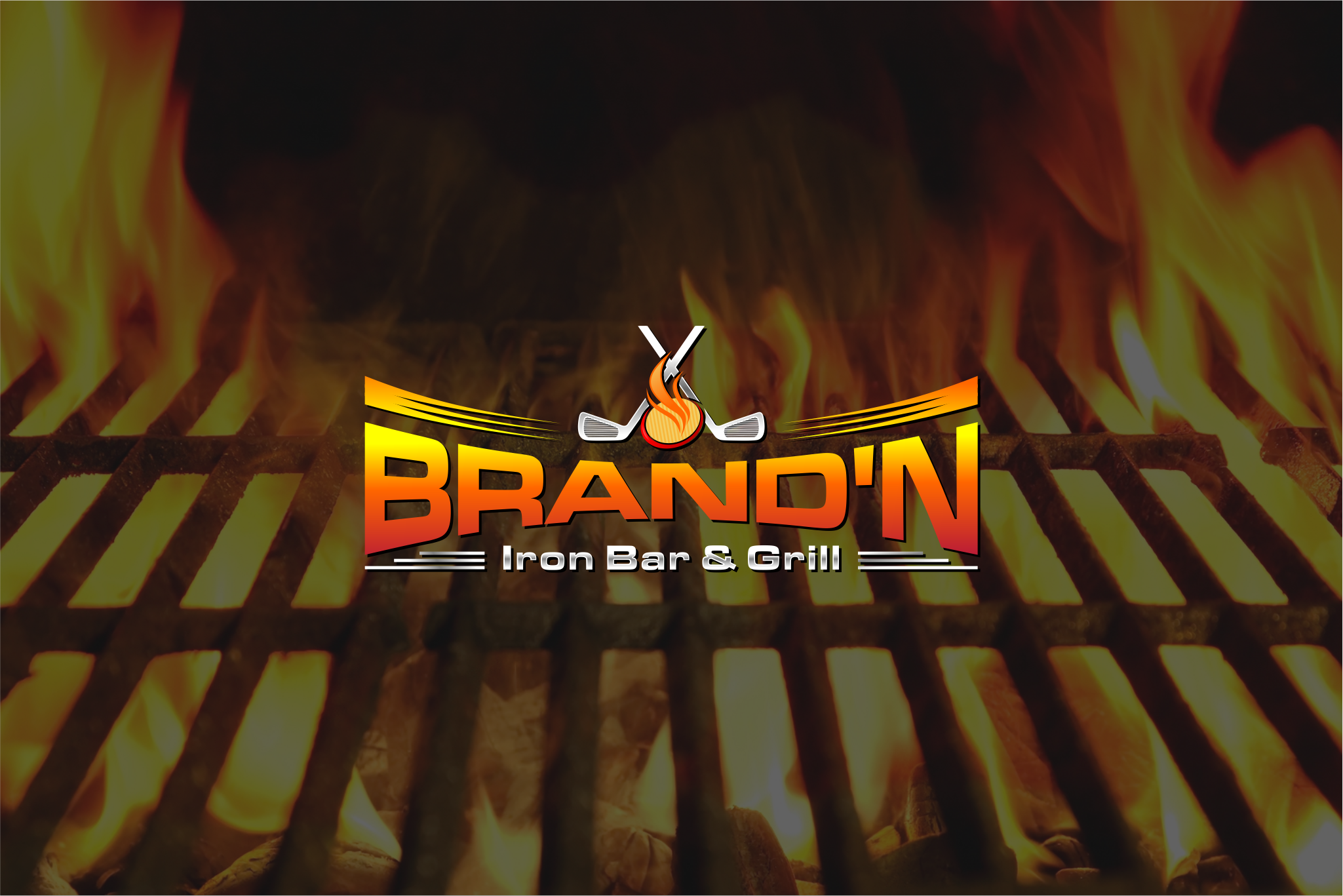 Logo Design by Raymond Garcia - Entry No. 206 in the Logo Design Contest Captivating Logo Design for Brand'n Iron Bar & Grill.