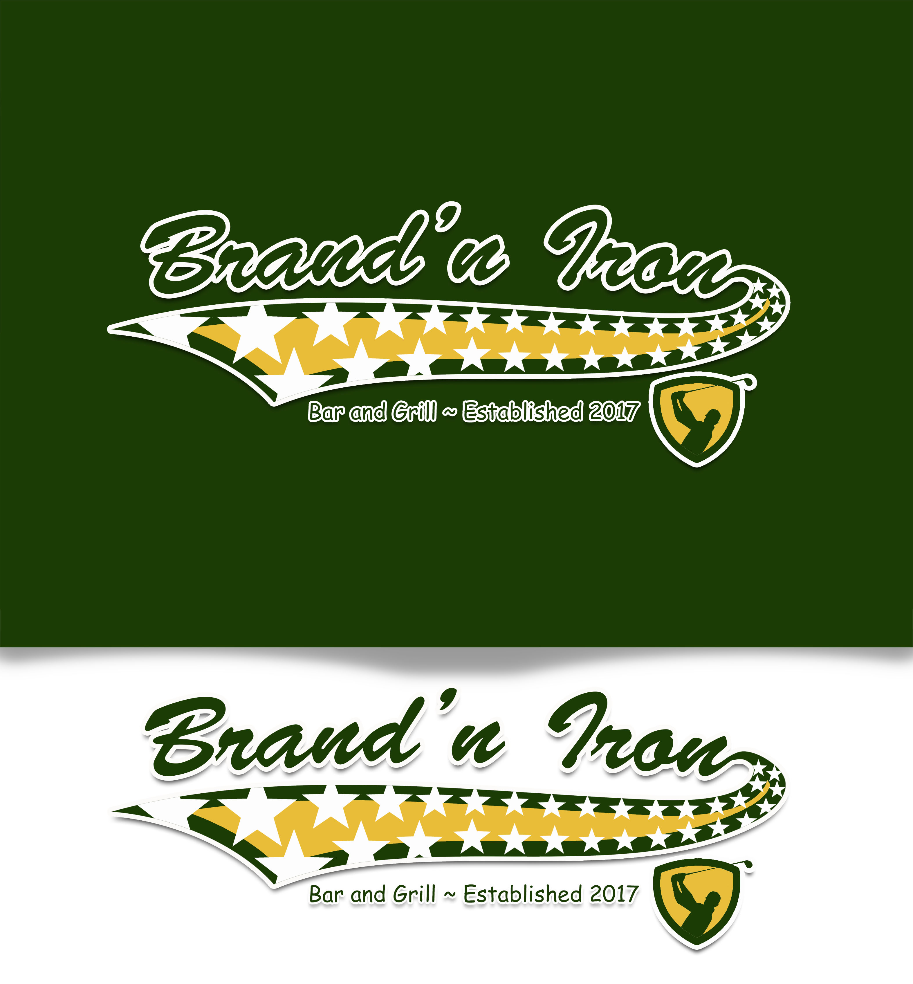 Logo Design by JSDESIGNGROUP - Entry No. 211 in the Logo Design Contest Captivating Logo Design for Brand'n Iron Bar & Grill.