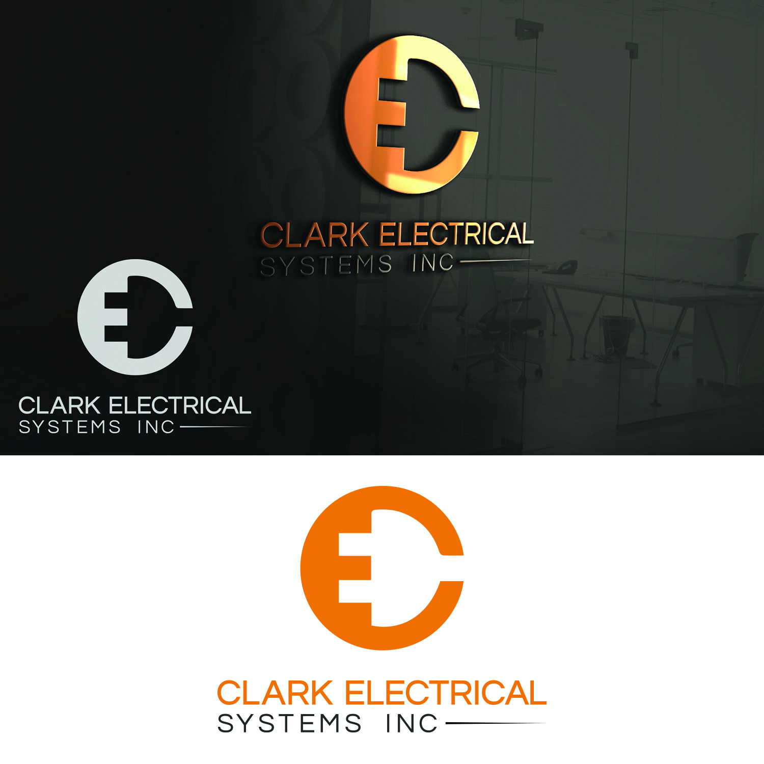 Logo Design by Umair ahmed Iqbal - Entry No. 245 in the Logo Design Contest Artistic Logo Design for Clark Electrical Systems Inc..