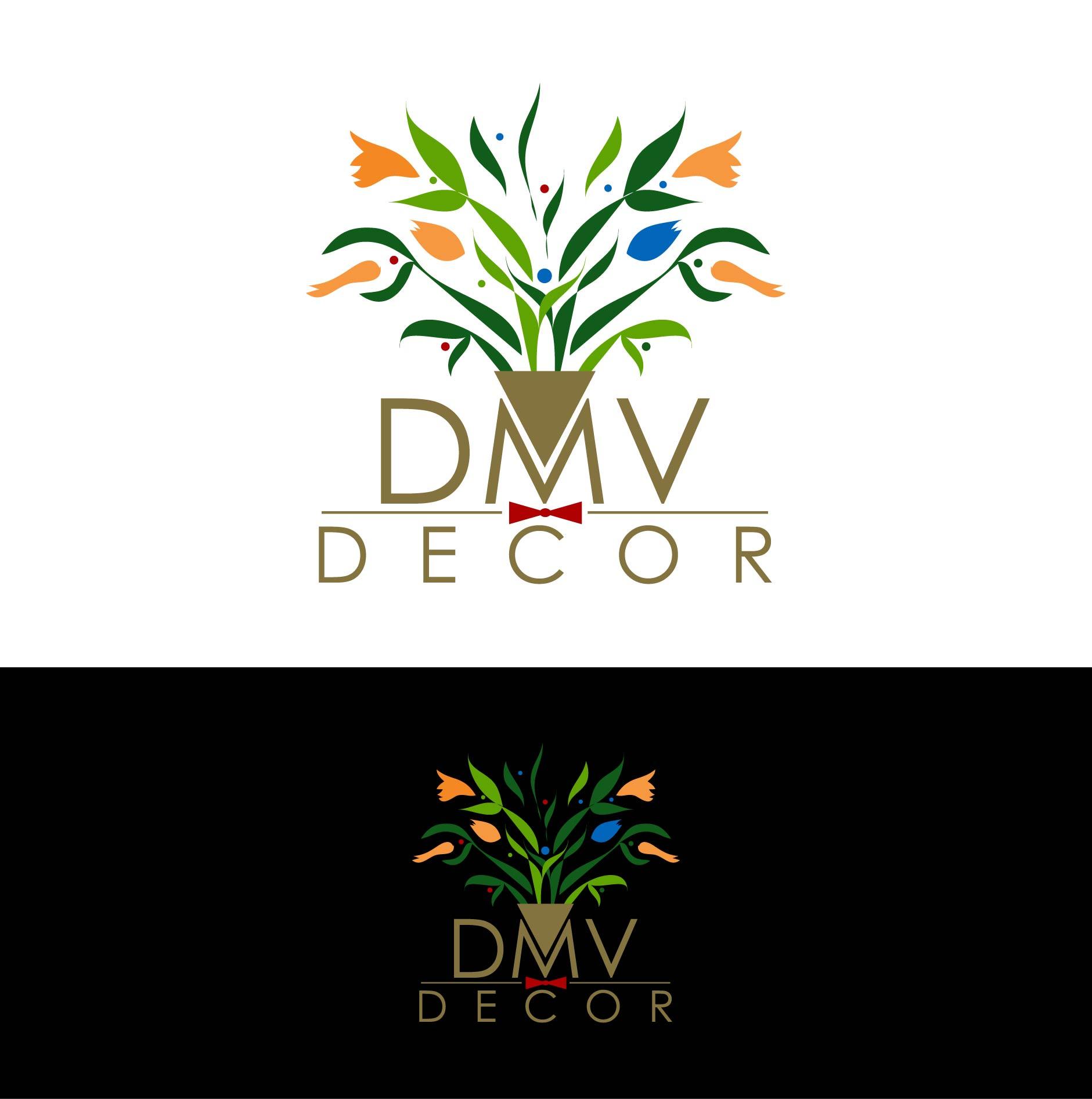 Logo Design by Batter Fly - Entry No. 25 in the Logo Design Contest dmvdecor Logo Design.