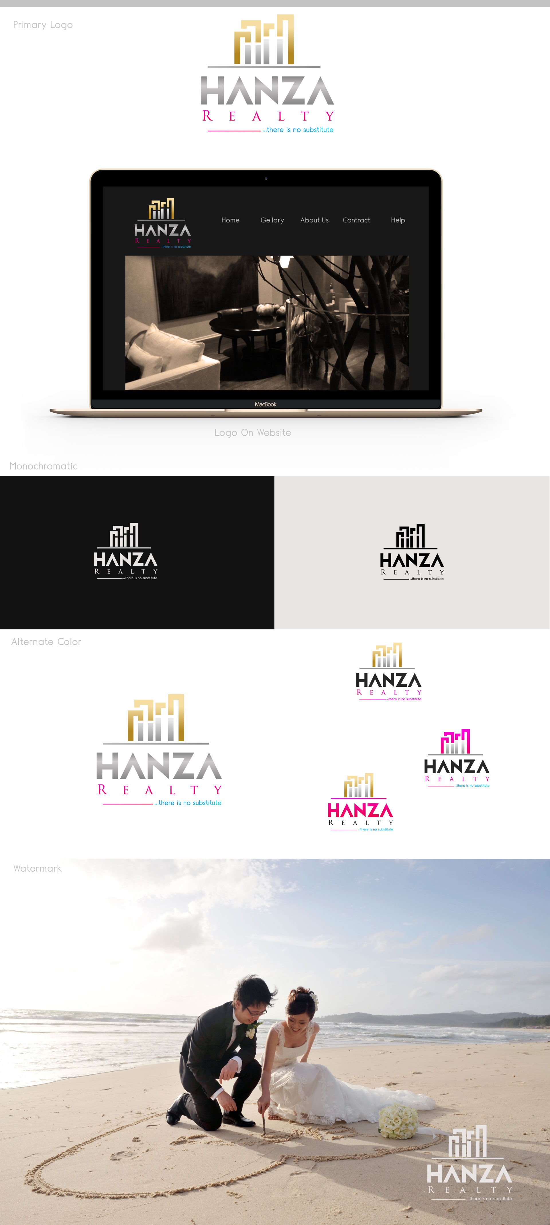 Logo Design by M h Rubel - Entry No. 355 in the Logo Design Contest Logo Design for Hanza Realty.