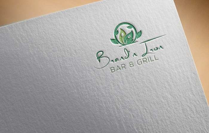 Logo Design by Mohammad azad Hossain - Entry No. 216 in the Logo Design Contest Captivating Logo Design for Brand'n Iron Bar & Grill.