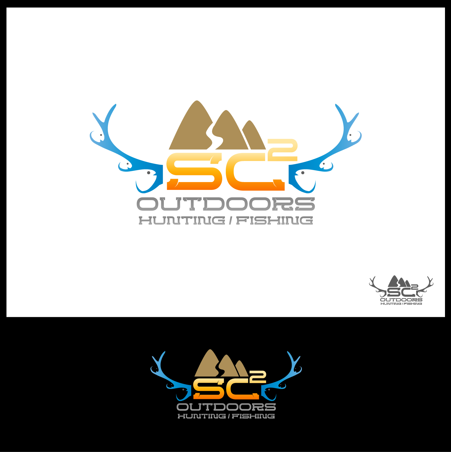 Logo Design by Batter Fly - Entry No. 265 in the Logo Design Contest Imaginative Logo Design for SC2 Outdoors Hunting / Fishing Logo.