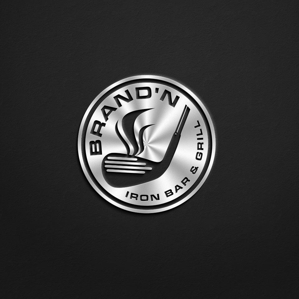 Logo Design by Raymond Garcia - Entry No. 229 in the Logo Design Contest Captivating Logo Design for Brand'n Iron Bar & Grill.