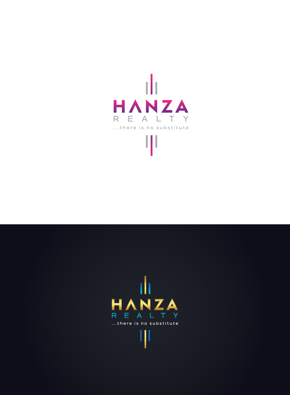 Logo Design by Tauhid Shaikh - Entry No. 381 in the Logo Design Contest Logo Design for Hanza Realty.