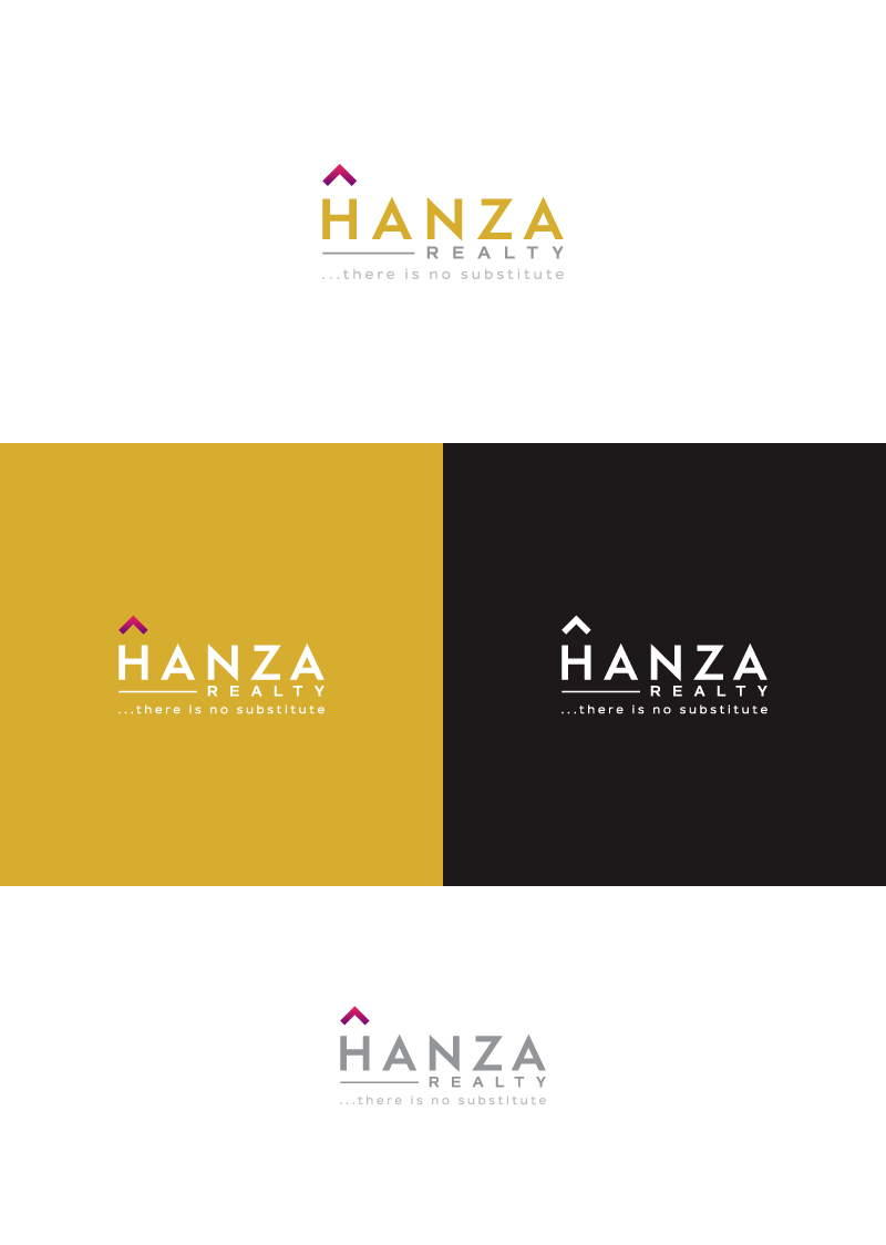 Logo Design by Tauhid Shaikh - Entry No. 382 in the Logo Design Contest Logo Design for Hanza Realty.