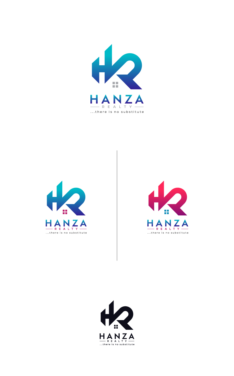 Logo Design by Tauhid Shaikh - Entry No. 388 in the Logo Design Contest Logo Design for Hanza Realty.