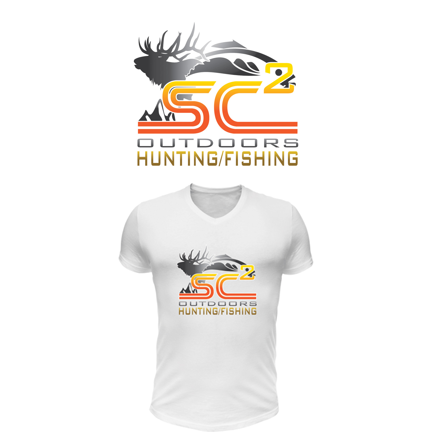 Logo Design by Private User - Entry No. 270 in the Logo Design Contest Imaginative Logo Design for SC2 Outdoors Hunting / Fishing Logo.