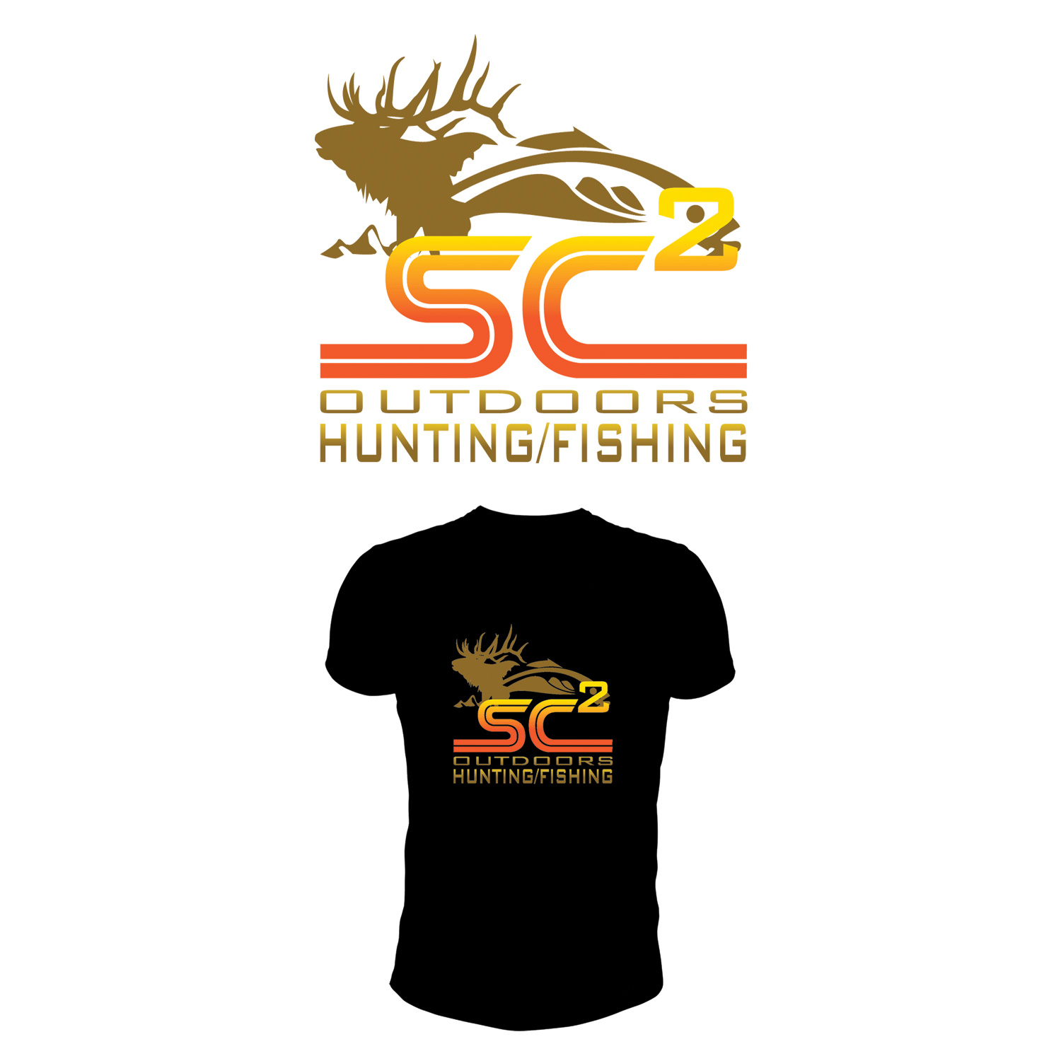 Logo Design by Private User - Entry No. 272 in the Logo Design Contest Imaginative Logo Design for SC2 Outdoors Hunting / Fishing Logo.