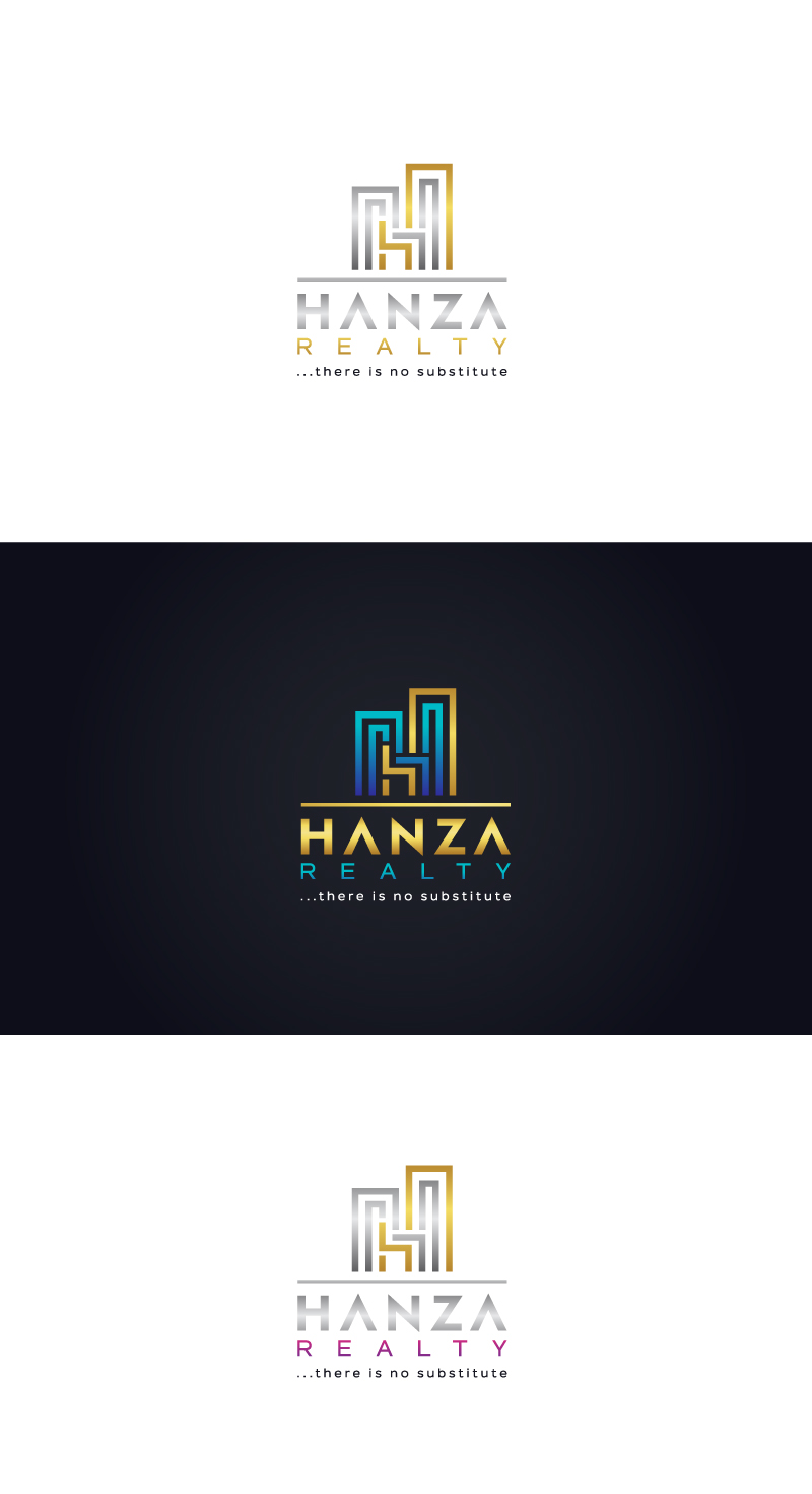Logo Design by Tauhid Shaikh - Entry No. 399 in the Logo Design Contest Logo Design for Hanza Realty.