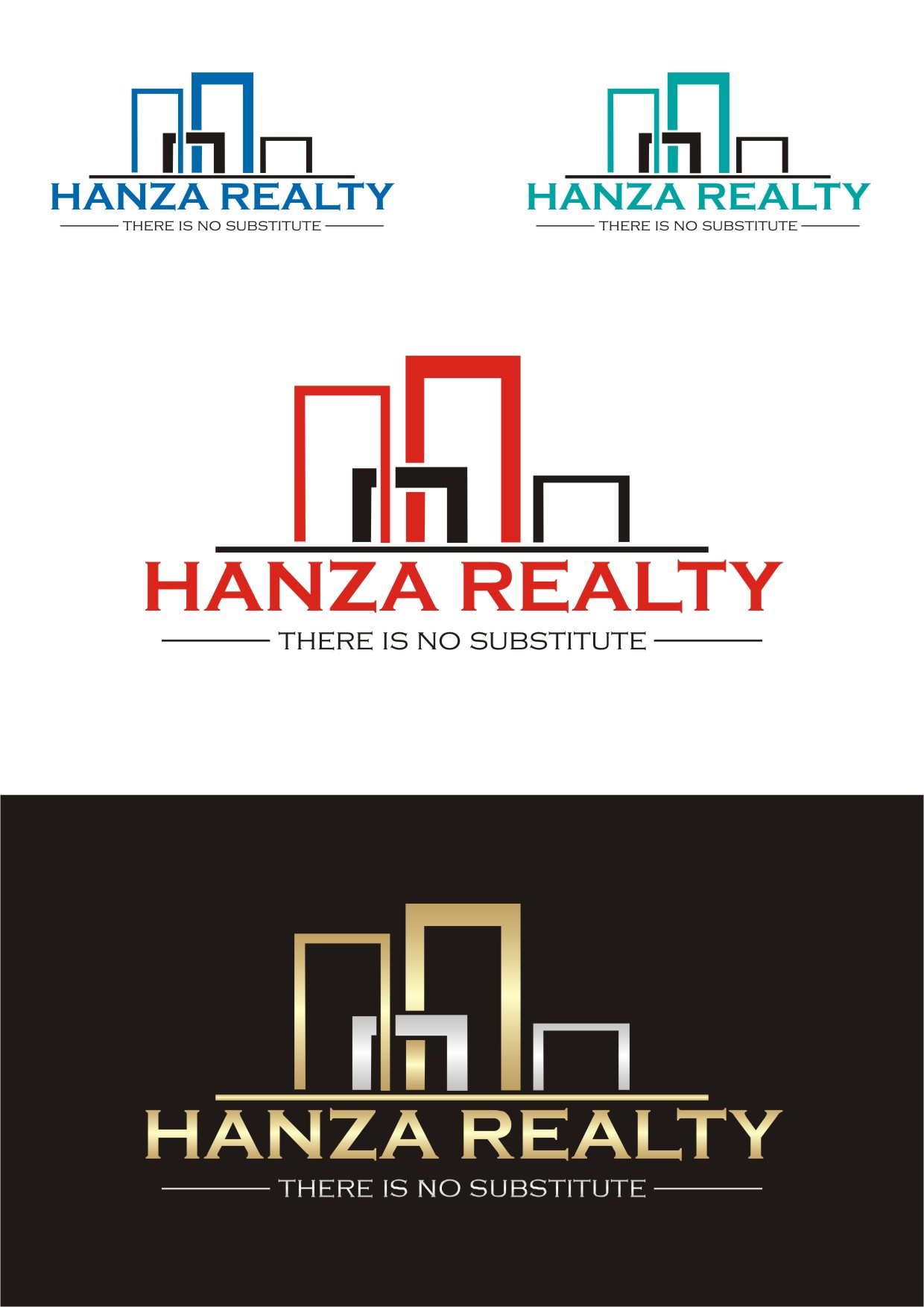 Logo Design by Lynx Graphics - Entry No. 414 in the Logo Design Contest Logo Design for Hanza Realty.