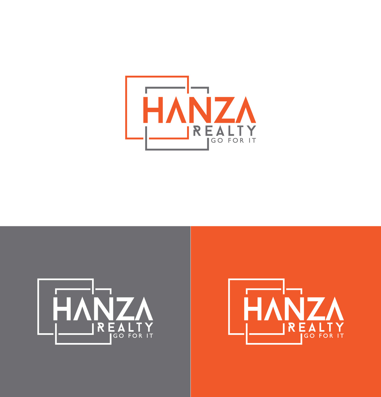 Logo Design by Raiyan Kabir - Entry No. 436 in the Logo Design Contest Logo Design for Hanza Realty.