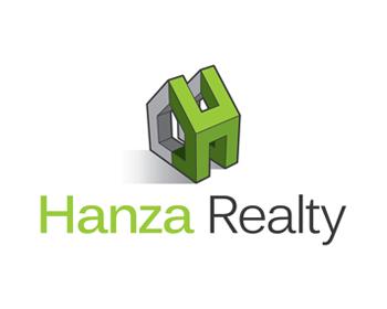 Logo Design by Robby Natajaya - Entry No. 476 in the Logo Design Contest Logo Design for Hanza Realty.