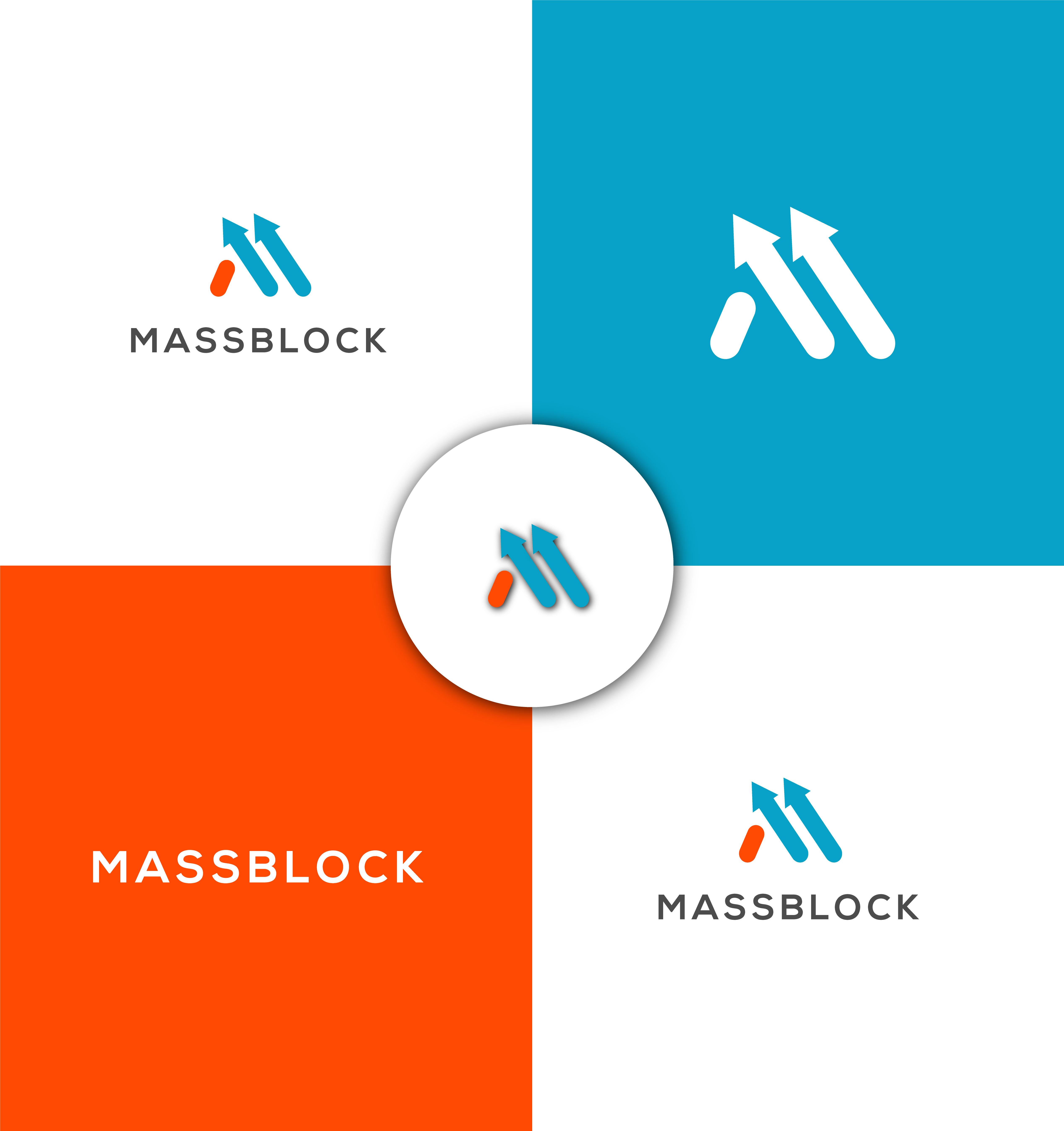Logo Design by Robiul Robin - Entry No. 106 in the Logo Design Contest Fun Logo Design for Massblock.