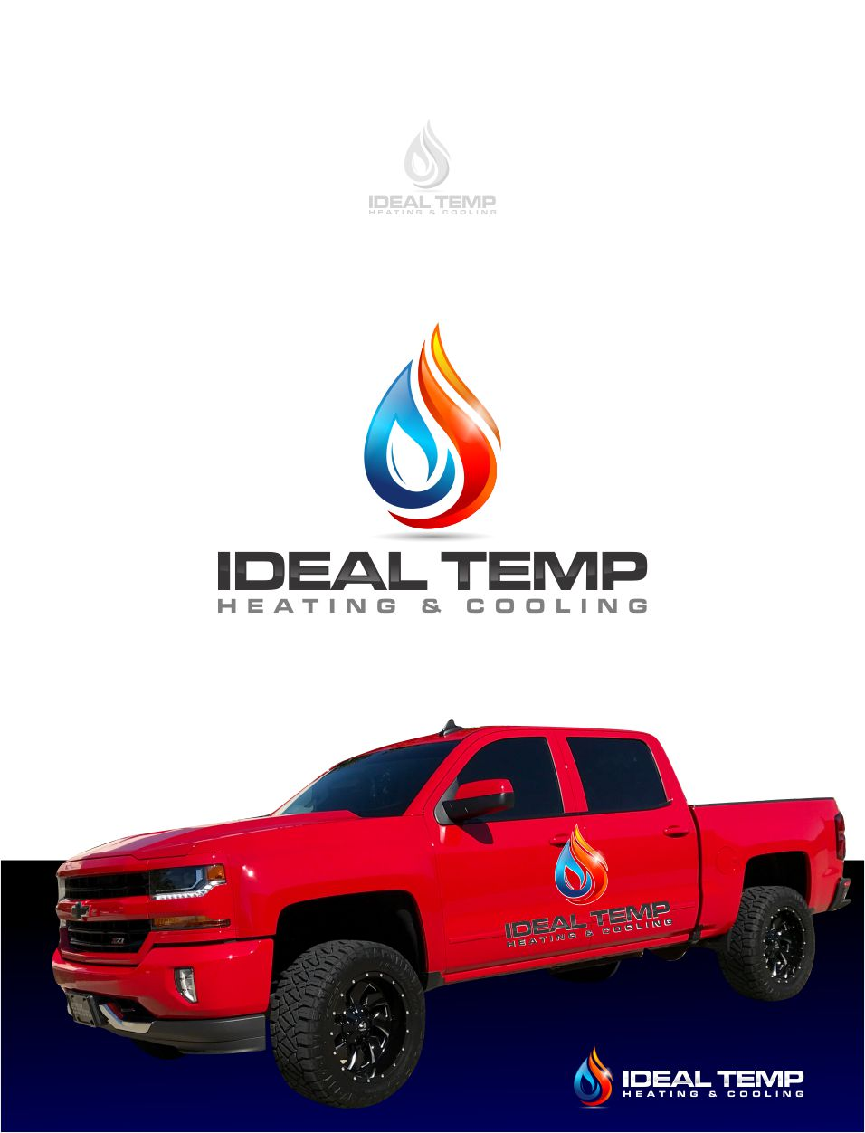 Logo Design by Raymond Garcia - Entry No. 1 in the Logo Design Contest Captivating Logo Design for Ideal Temp.