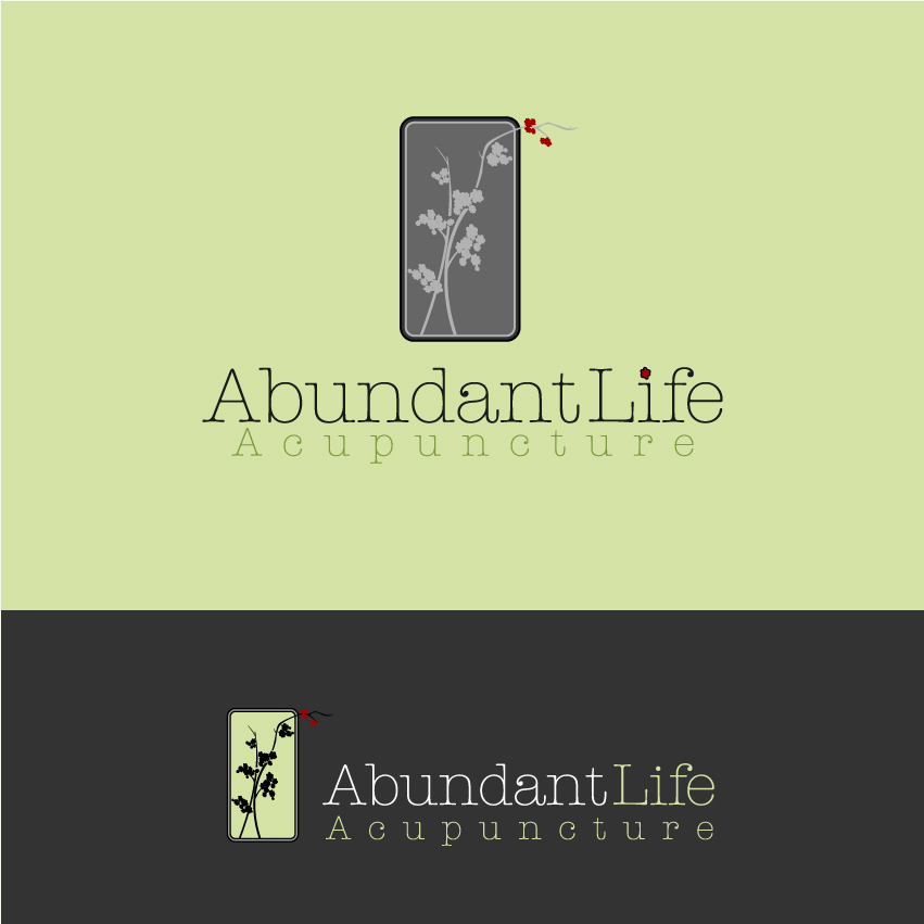 Logo Design by trav - Entry No. 98 in the Logo Design Contest abundant life acupuncture.