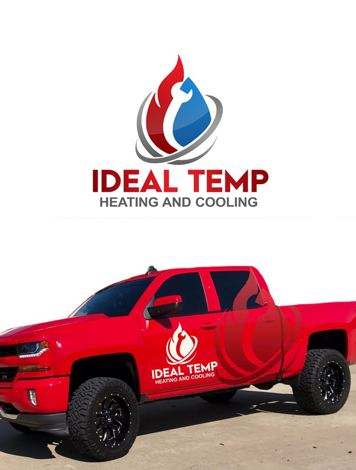 Logo Design by Banyumili - Entry No. 21 in the Logo Design Contest Captivating Logo Design for Ideal Temp.