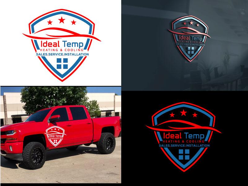 Logo Design by Md Harun Or Rashid - Entry No. 24 in the Logo Design Contest Captivating Logo Design for Ideal Temp.