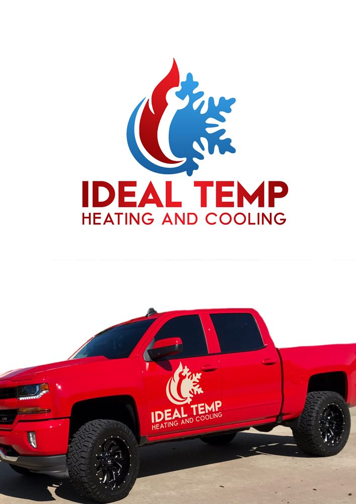 Logo Design by Banyumili - Entry No. 38 in the Logo Design Contest Captivating Logo Design for Ideal Temp.
