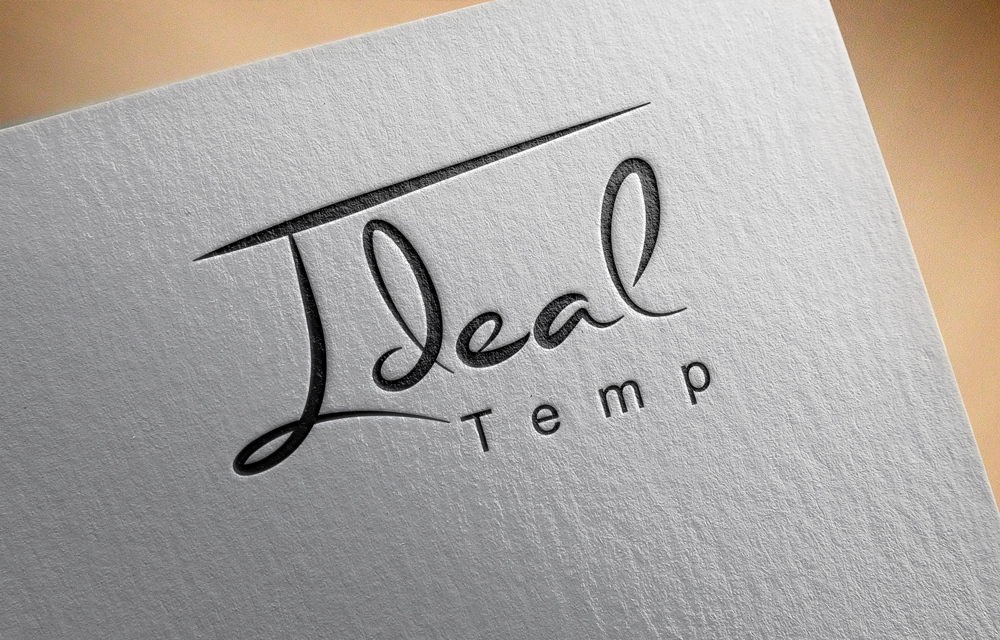 Logo Design by Mariam Mou - Entry No. 61 in the Logo Design Contest Captivating Logo Design for Ideal Temp.