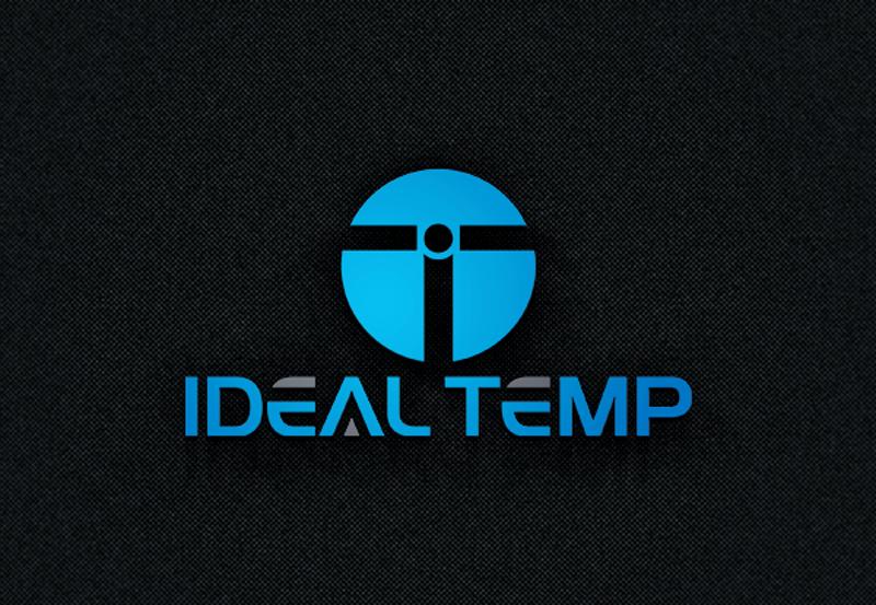 Logo Design by Black Design - Entry No. 69 in the Logo Design Contest Captivating Logo Design for Ideal Temp.