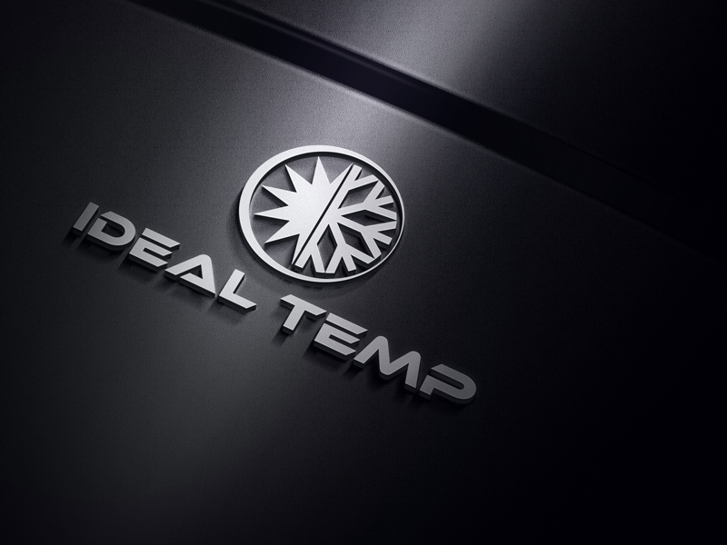 Logo Design by Riday Hassan - Entry No. 71 in the Logo Design Contest Captivating Logo Design for Ideal Temp.