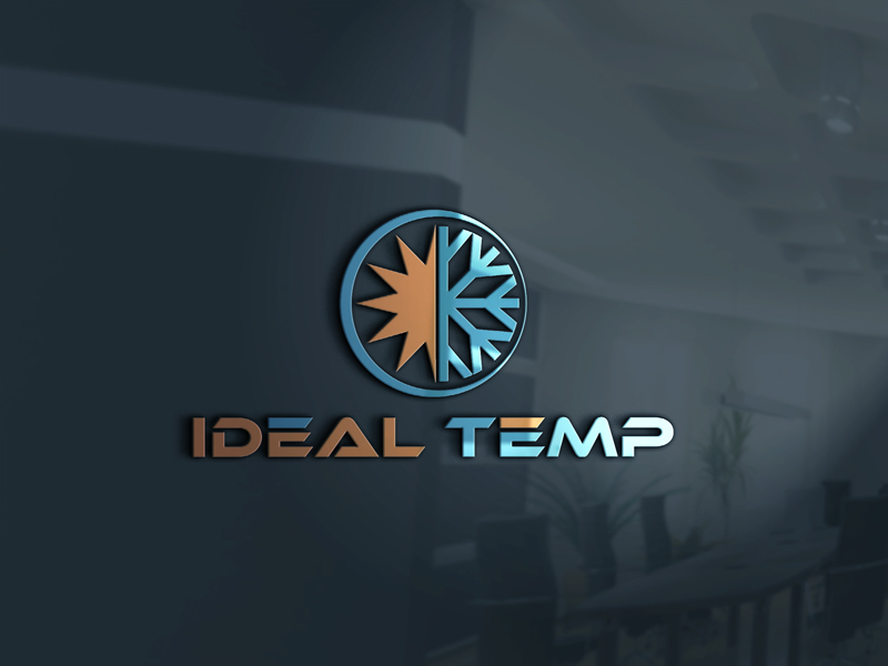 Logo Design by Riday Hassan - Entry No. 73 in the Logo Design Contest Captivating Logo Design for Ideal Temp.