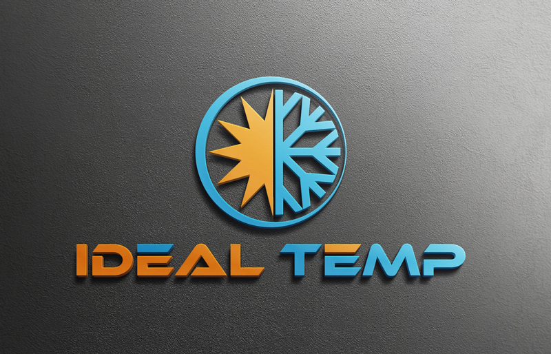 Logo Design by Riday Hassan - Entry No. 74 in the Logo Design Contest Captivating Logo Design for Ideal Temp.